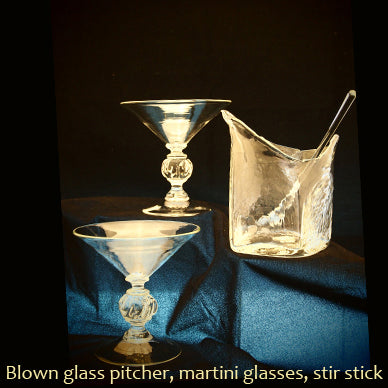Martini Glasses, Pitcher and Stir Set