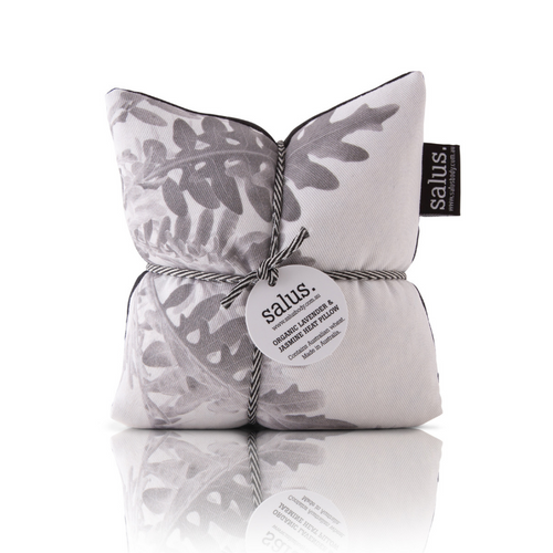 Organic Lavender & Jasmine Heat Pillow - Grey Botanical