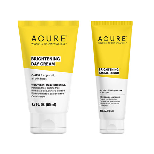 Brilliantly Brightening Facial Scrub + Day Cream
