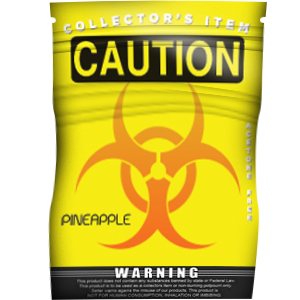 Caution Pineapple - Platinum
