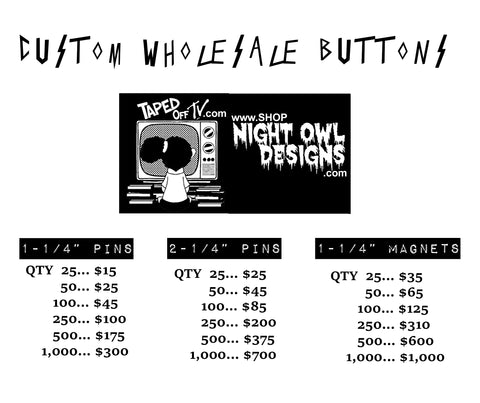 custom wholesale pinback button pricing
