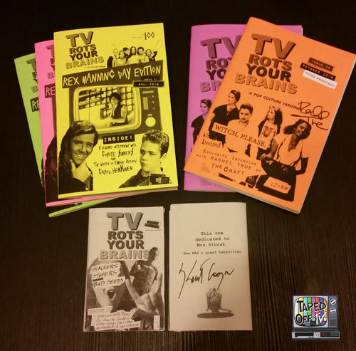 You'll get all 3 zines Issue #1 mini zine autographed by and includes an interview with Keith Coogan aka