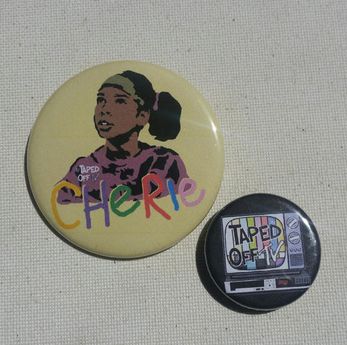 80s kid black girl magic pin pinback button badge Cherie Johnson from Punky Brewster 80s tv show saturday morning
