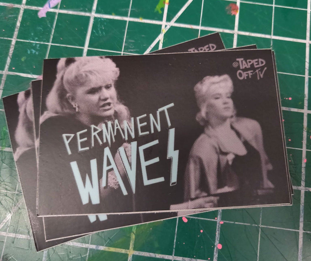 Family Ties Jennifer Keaton band Permanent Waves sticker Christina Applegate 80s TV shows PS: Stick it somewhere good + tag me! @TapedOffTV #TapedOffTV