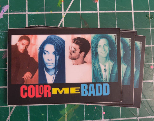 not Color Me Badd vinyl STICKER
