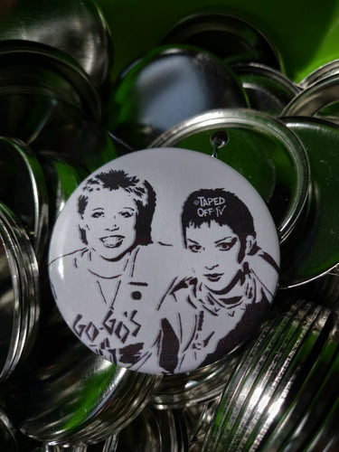 Gina and Jane (the Go-Go's) pin