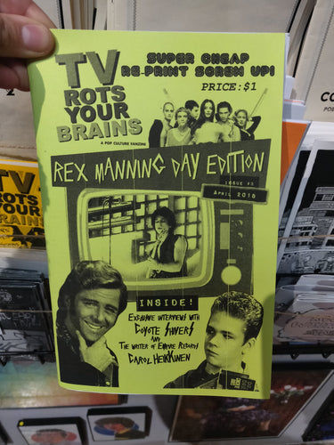 SALE TV Rots Your Brains zine issue #3 Rex Manning Day Edition