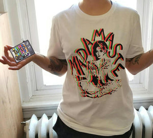 80s madonna fan t-shirt t shirt madamaste namaste funny tee taped off tv