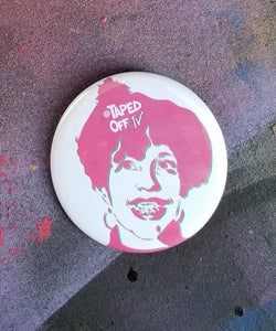 Poly Styrene stencil XRay Spex street art pin by TapedOffTV punk pins pinback buttons badges oh bondage up yours