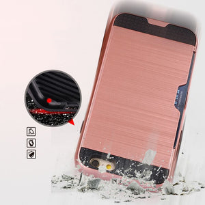Silicon Phone Shell Case With Wallet Card Holder