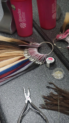 Donna Bella Hair Extension Tools - Color Ring and I-Link Tools