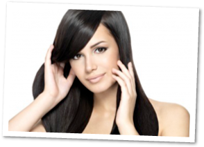 brunette model with full head human clip in by donna bella