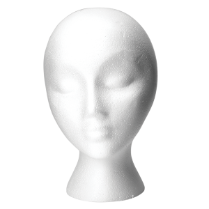 Donna Bella Hair Extension Tools - Styrofoam Mannequin Head