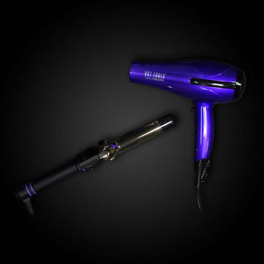 Hot Tools Salon Ionic Dryer (HT7007CRM) and Hot Tools 1¼ curling iron (1110)