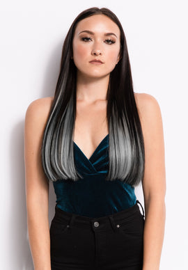 "18"" I-Link Pro Straight - Ombre 1B/Silver - Donna Bella Hair"