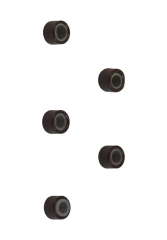 Silicone Beads - Medium Brown