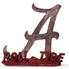 Alabama Crimson Tide Script A Logo Sculpture