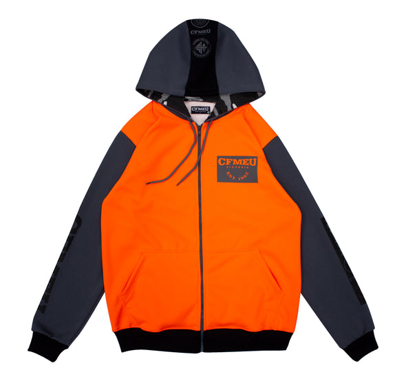 M Patch Full Zip - HV Orange