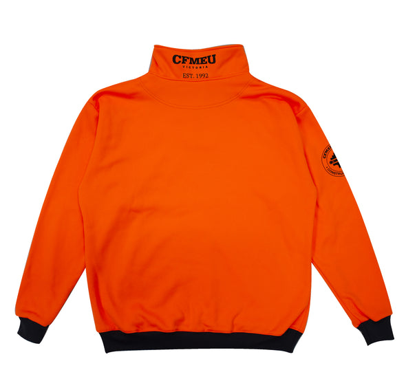1/4 Zip Camo - HV Orange (Relaxed Fit)
