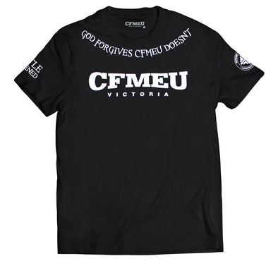 CFMEU Doesn't Forgive Crew Tee - Black