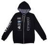 Compilation Logos  Full Zip - Black