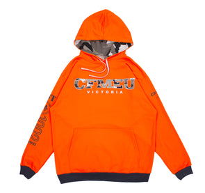 CFMEU Basic Camo Hoodie - HV Orange