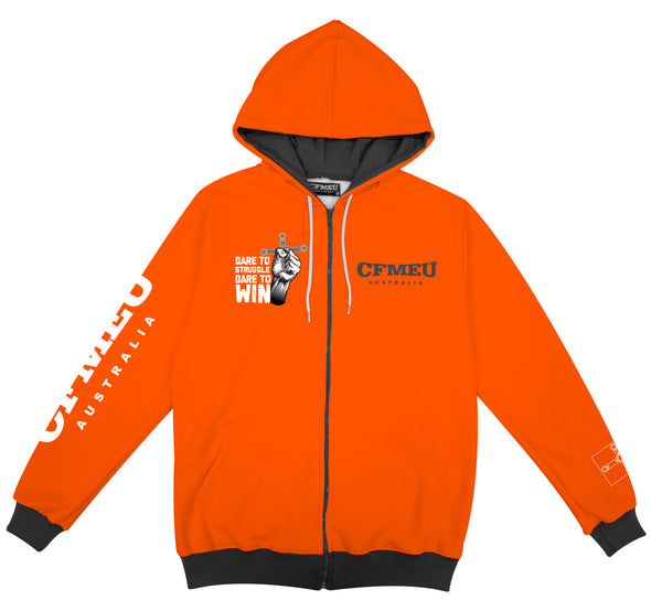 DTSDTW Full Zip  - Hi Vis Orange/ Charcoal