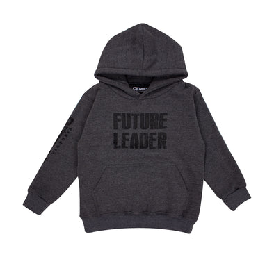 Kids Unisex Future Leader Hoodie  - Charcoal