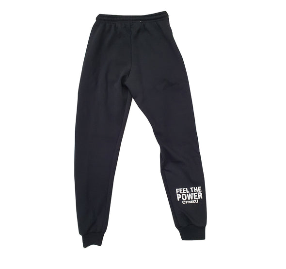 Men's  Tracksuit Pants - Black (Fleece / Double Zip Pockets)