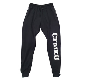 Men's Tracksuit Pants - Black (Lightweight / Double Zip Pockets)
