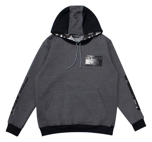 M Patch Hoodie - Black/Grey/Camo