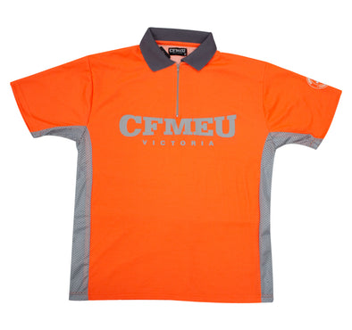 Micro Mesh Polo Short Sleeve - Hi-Vis Orange