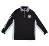 Micro Mesh Polo Long Sleeve - Black/Grey