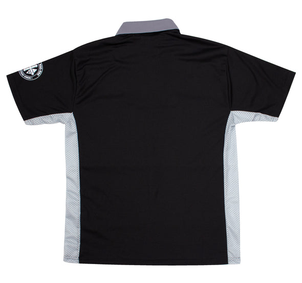 Micro Mesh Polo Short Sleeve - Black/Grey