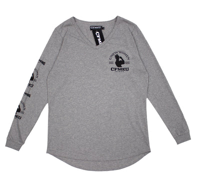 RTR Women's Crew  L/S Tee - Grey Marle