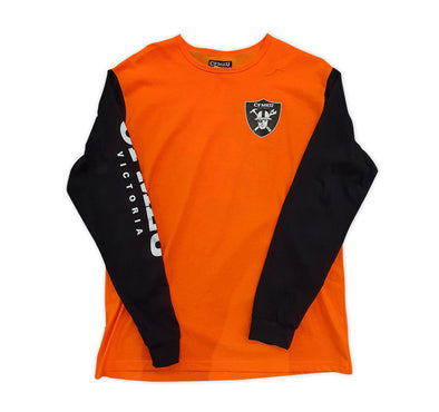 Construction Shield Long Sleeve Crew - HV Orange