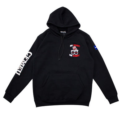 Scab Hunter Retro Hoodie - Black