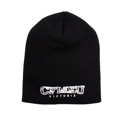 Beanie - Black Camo Skull Fit