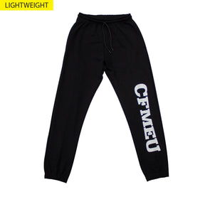 Unisex Tracksuit Pants - Black (Lightweight)