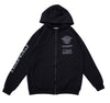 Unstoppable Full Zip Hoodie - Black