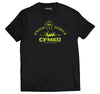 Fluro Union Power Yellow - Black Crew Tee