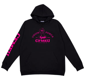 Fluro Union Power - Black Hoodie YOUTH