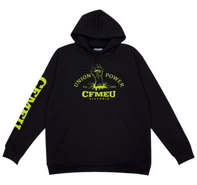 Fluro Union Power Hoodie - Black