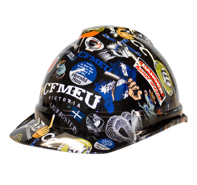 Sticker Bomb Hard Hat - V Guard