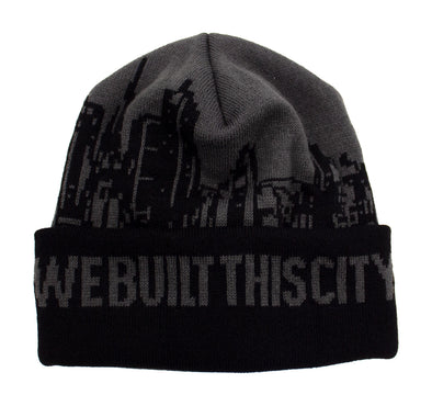 Beanie - No Pom Pom We Built This City