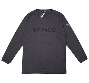 Stack Print Long Sleeve - Charcoal