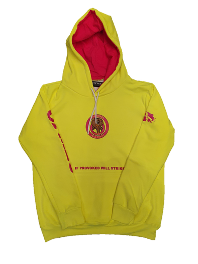 Women's If Provoked Will Strike Hoodie - HV Yellow