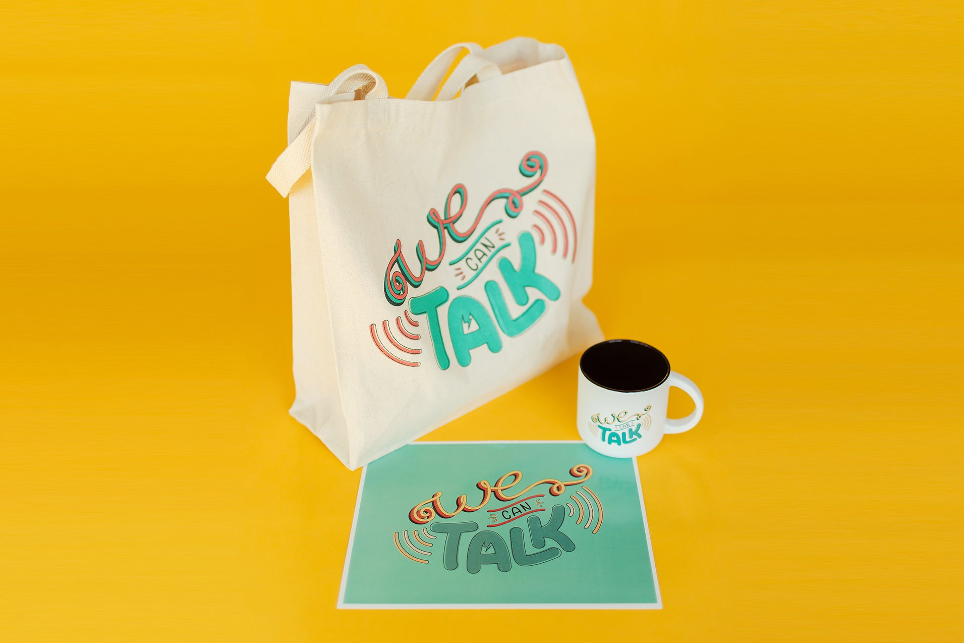 "The ""We Can Talk"" Tote Bag"