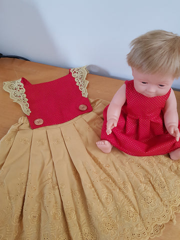 Christmas dolls dress.