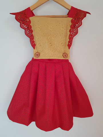 Christmas pinny RED